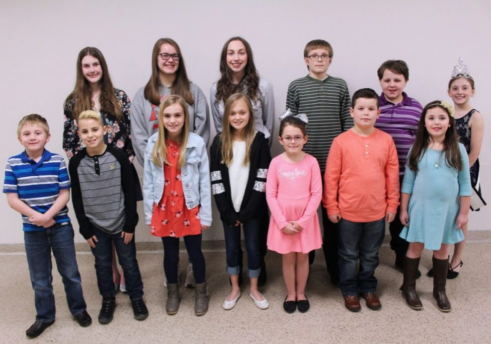 Students who placed in the annual county contest read their original stories to the audience during the county's Young Writers Tea. Every story is printed in the 2019 Marshall County Young Writers Anthology.