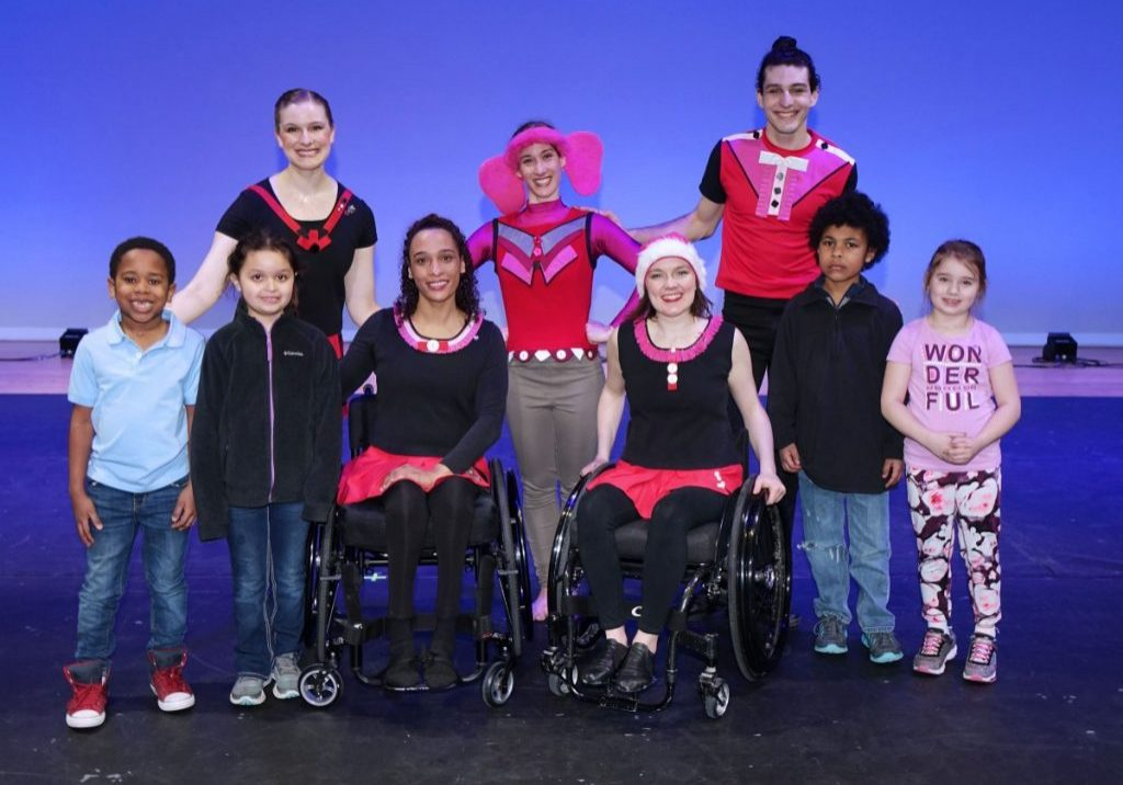"""The Dancing Wheels Company performed """"Daring to Be Dumbo"""" for Marshall County students during a matinee show in the John Marshall High School Center for Performing Arts Tuesday morning."""